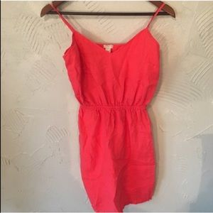Women's J. Crew Coral Pink Fit and Flare D…